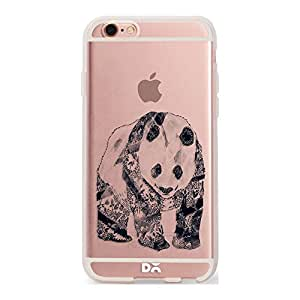 DailyObjects Tattooed Panda Silicone Clear Case For iPhone 6S