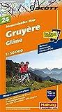 Gruyère - Glâne: Nr. 24, Mountainbike-Karte, 1:50 000, Free Map on Smartphone included (Hallwag Mountainbike-Karten)