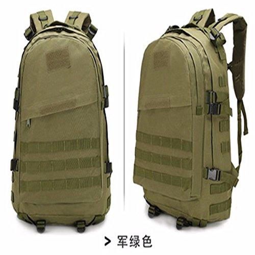 Oxford Pack Outdoor Bergsteigen bag Schulter Taschen für Männer und Frauen wandern Taschen Camouflage Rucksack 46 * 33 * 18 cm, tri-Sand Farbe Armee Grün