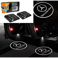 ‏‪LSDD 2Pcs Wireless Universal Car Projection LED Projector Shadow Light Welcome Light Emblem Logo Set No Drill Required‬‏