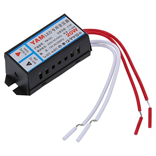 SODIAL(R) Entree AV 220V Sortie 12V 20W LED Transformateur electronique