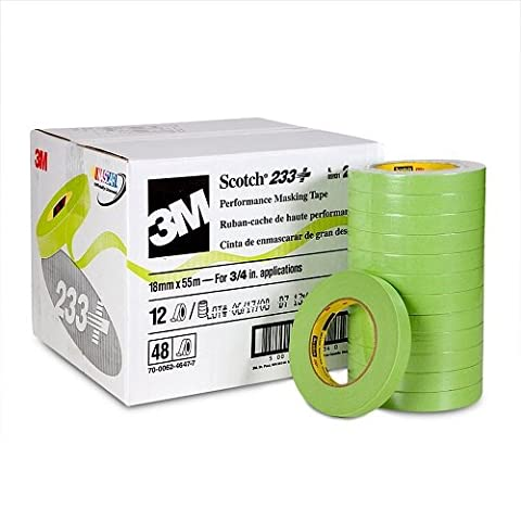 3M Scotch MMM26334 233 Performance + Automotive Refinish Masking Tape