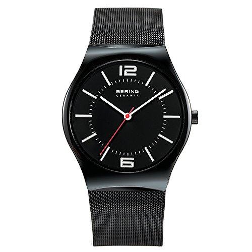 Bering Time - 32039-448 - Montre Homme - Quartz Analogique - Bracelet en maille Noir céramique