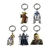 5x Offiziell lizensiertes Star Wars Schlüsselanhänger R2d2Chewbacca Yoda C3PO Stormtrooper Darth Vader