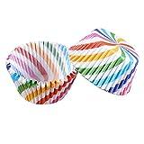 2Papier Kuchen Cup Wave Edge Cupcake Fällen Muffin Dessert Backen Box für Hochzeiten, Geburtstage Supplies Rainbow Stripe