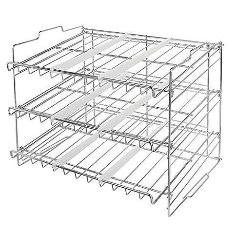 Interdesign 60740EU Classico Support empilable pour Rangement de boîte Acier Chrome 44,5 x 34,4 x 34,7 cm