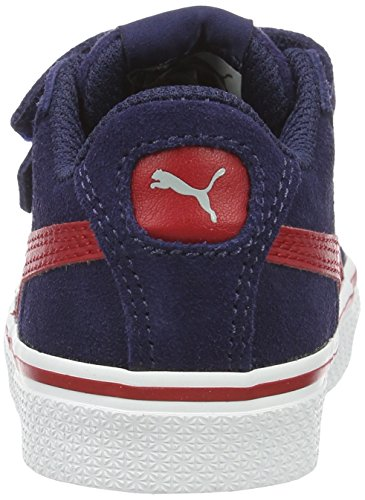 Puma 1948 Vulc V Inf, Sneakers Basses Mixte Enfant Bleu (Peacoat-barbados Cherry 08)