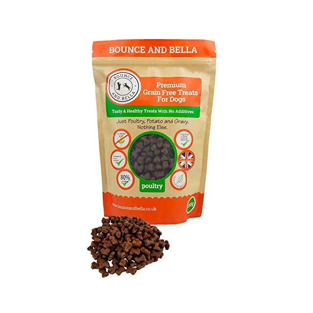 Friandises pour chiens de qualité supérieure Bounce and Bella, sans céréales.