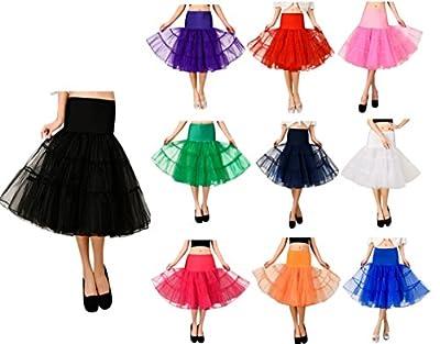 Womens 50s Vintage Petticoat Underskirt Slips Various Colours