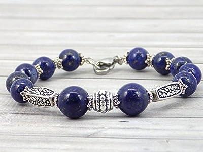 Bracelet pour femme Thurcolas en Lapis Lazuli de la gamme Medicis plaqué argent