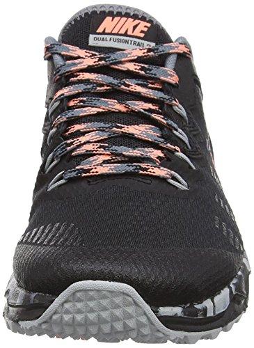 Nike Damen Wmns Dual Fusion Trail 2 Laufschuhe Schwarz (Schwarz;pink;grau)