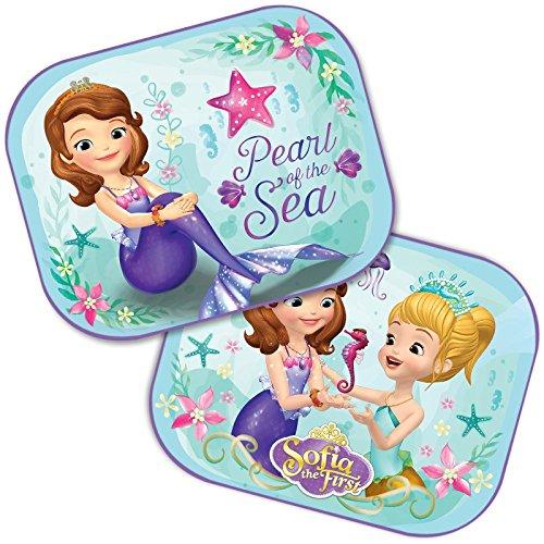 DisneyPrincessSofia the first : 2 x Auto Sonnenschutz/Vorhänge/Seitenscheibe/Sonnenblende inklusive UV Schutz für Baby und Kind