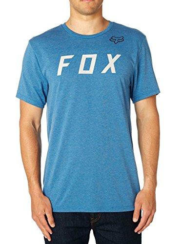 Fox Tech T-Shirt Grizzled Heather Dark Grey Heather Blue