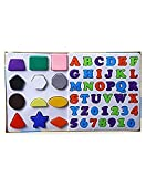 #6: Educational Alpha, Numbers & Shapes for Kids. Let Them Learn The Combo of Alphabet,Number and Shapes
