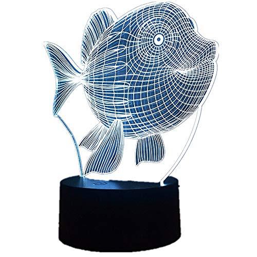 3D Arowana LED Schildkröte Nacht Licht 7 Farben Glück Dinosaurier Tisch Lampe Decor Bunte Neuheit Beleuchtung Kind Baby Spielzeug geschenke Bauch Fisch Eine Größe
