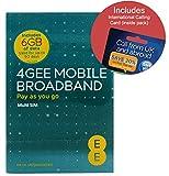 EE 4G 6GB UK PAYG Trio Data SIM - Mobile Broadband -6GB + FREE International Calling Card - (RETAIL PACK)