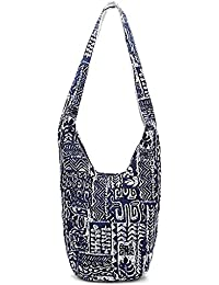 1bd9a40f82 JAGENIE Donna Hippie Shoulder Bags Fringe Large Pures Borsa a mano Ethnic  Tote Bag blu