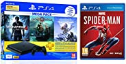 Sony PS4 1 TB Slim Console (Free Games: God of War/Uncharted 4/Horizon Zero Dawn) + Marvel's Spider Man (