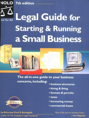 Legal Guide for Starting & Running a Small Business, Seventh Edition by Fred S. Steingold (2003-08-02)