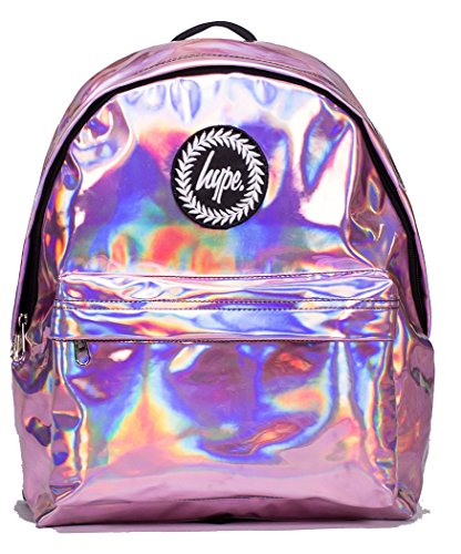 51pgWnf4iGL - Hype Backpack Bags Rucksack - Pink Holographic Design - Ideal School Bags - For Boys and Girls - Pink Holographic sports best price Review uk