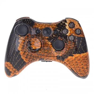 Xbox 360 Custom Wireless Elite Controller - Orange / Gold Dragon Scales - Control Blast UK
