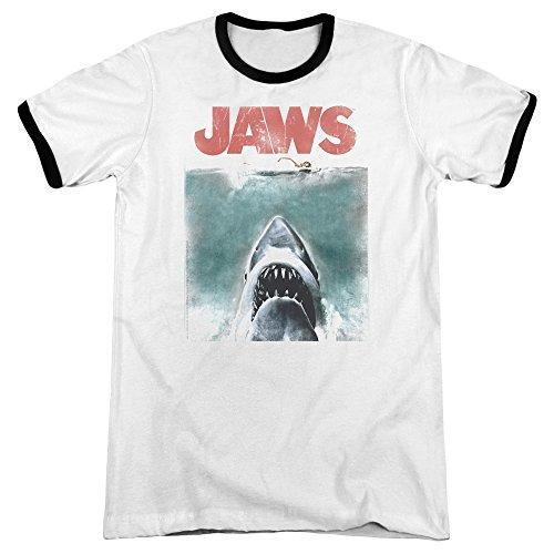 Jaws Herren T-Shirt weiß / schwarz