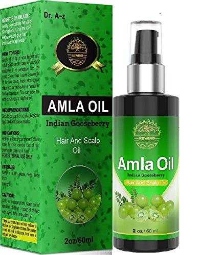Amla Huile essentielle BIO - Huile Cheveux et le cuir chevelu indien d'oie Berry 100% naturel - évite prématuré Gris chiné - favorise la pousse des cheveux - Bloque Alopécie - pas de produits chimiques