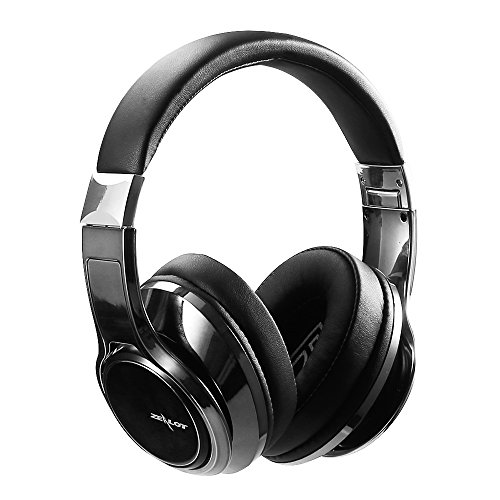 ZEALOT B22 Bluetoooth Kopfhörer over ear Stereo bluetooth Headset mit 3,5mm AUX-Kabel Buchse und HD Mikrofon verwendbar für Laptop, PC, iPhone, Android Smartphones und andere Bluetooth Geräte (Eisengrau)