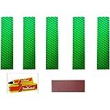 Marigold Cricket Bat Toe Guard Kit (Set of 5pc Toe + 1 Abrasive Strip + 1 Fevibond) (Green)