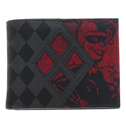 batman-officiel-harley-quinn-mens-noir-et-rouge-bi-fold-de-portefeuille
