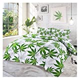 Islander Fashions Luxury Cannabis Leaf Housse de Couette Douce Imprim�e Abby Housse...