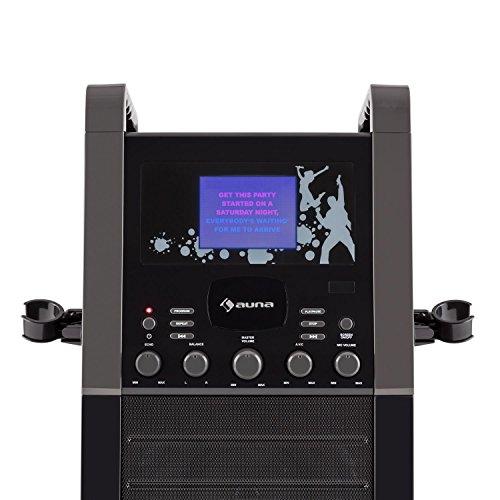 auna KA8P-V2 BK • Karaoke Anlage • Kinder Karaoke Player • Karaoke Set • 3,5 Zoll TFT-Display • 2 x dynamisches Mikrofon • integierter Lautsprecher • Video-Ausgang • CD+G-Player • CD-Player • MP3-fähig • Echo Effekt • A.V.C. Funktion • AUX-Eingang • schwarz - 6