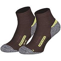Piarini Coolmax - 2 pares de calcetines cortos para senderismo y exteriores, talla 35-38 39-42 43-46 47-50, Todo el año, Hombre, color marrón, tamaño 39-42