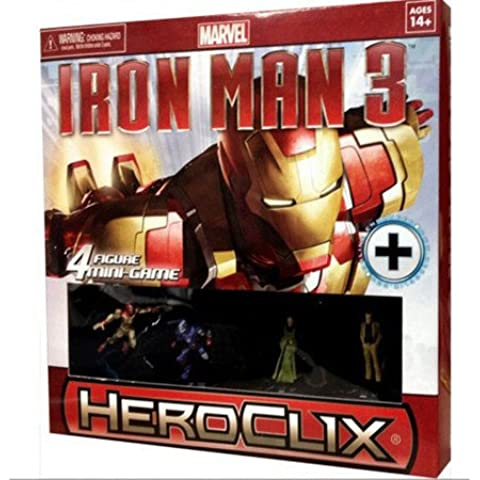 Marvel Heroclix Iron Man 3 - Juego de 4 figuras en miniatura