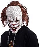 VBNM Mascherare Spaventoso Clown Ltex Maschera Creepy Halloween Costume Propone Maschera Faccia per Adulti