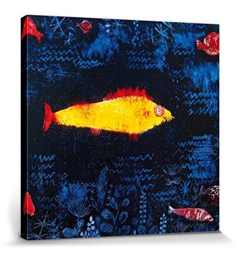 1art1 Paul Klee - Der Goldene Fisch, 1925 Poster Leinwandbild Auf Keilrahmen 70 x 70 cm