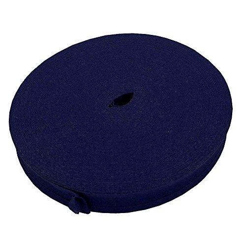 25mm Schrägband Rand 100% Baumwolle–Royal Blau–10m (Baumwolle Twill-stoff 100%)