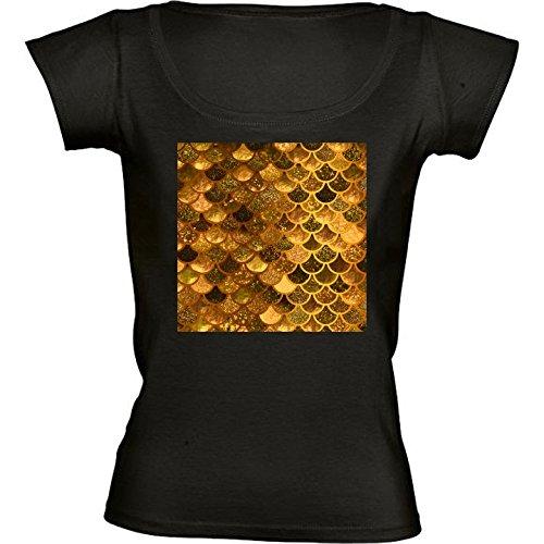t-shirt-nero-girocollo-donne-taglia-m-sirena-scintillio-scale-di-lusso-by-utart