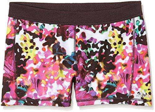 adidas Damen Unterwäsche Techfit 3 Zoll Short Tights Floral Print, Weiß/Rot, S Weiß Floral Tights