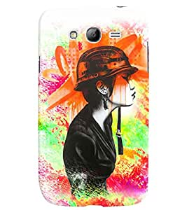 PrintVisa Stylish Cool Girl Army 3D Hard Polycarbonate Designer Back Case Cover for Samsung Galaxy Grand