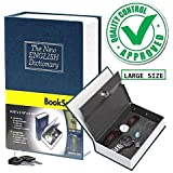ESHOP Book Safe Dictionary Style Iron Locker Jewellery Home Hidden Box (Random Colour, Standard Size)