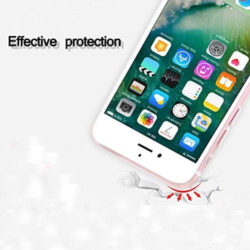 iPhone 6/6s Flamant rose Coque en silicone avec protection d'écran en verre trempé, Blossom01Ultra mince souple en gel TPU Coque de protection en silicone avec motif de dessin animé pour iPhone 6/6s  #03