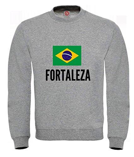 Felpa Fortaleza city Gray