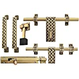 A & Y Traders Amazing Brass Door Accessories Kit (Antique Finish, 6-Pieces)
