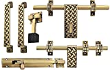#2: A & Y Traders Amazing Brass Door Accessories Kit (Antique Finish, 6-Pieces)