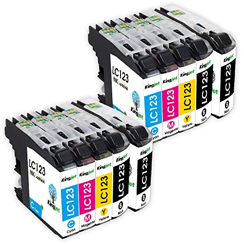 kingjet-10-pack-lc123-high-yield-ink-cartridges-with-chips-replacement-for-brother-mfc-j4510dw-mfc-j