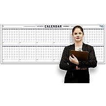 "Nuevo. anual planificador de pared grande–caso de borrado en seco Calendario–enrollable pizarra 36""x96"""