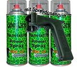 3 x 400 ml Kunststoffprimer Spray Haftvermittler für Kunstoffe am Auto + Spraydosenhandgriff