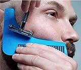 Pettine da barba–Stencil per gli uomini–Leggero e Flessibile–Taglia unica–taglio curvo–Strumenti di forma–Bordo Contour Linea di barba, baffi, basette e Front immagine