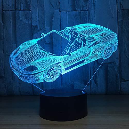 WangZJ 3d optische Täuschung Tischlampe/Kinder Schlaf 3d Nachtlicht/Stimmung Lampe / 7 Farbwechsel Nachtlampe/Sportwagen -